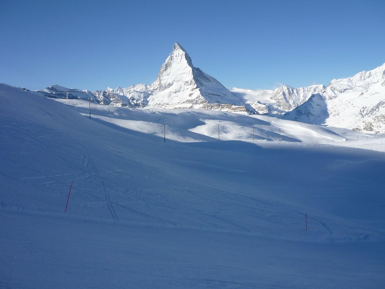 Traumhaftes Skigebiet von Zermatt